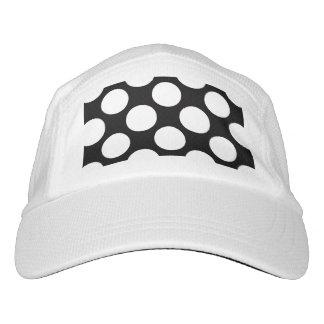 Modelo de lunares blanco negro moderno gorra de alto rendimiento