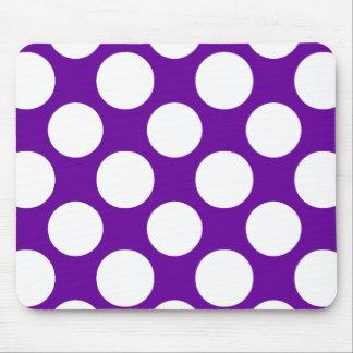 Modelo de lunares blanco púrpura moderno tapetes de raton