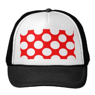 Modelo de lunares blanco rojo brillante moderno gorras