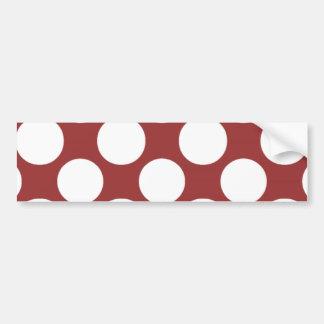 Modelo de lunares blanco rojo moderno etiqueta de parachoque