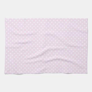 Modelo de lunares blanco rosado de moda lindo toallas