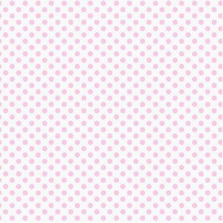 Modelo de lunares blanco rosado lindo de moda fotoescultura vertical