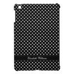 Modelo de lunares blanco y negro elegante iPad mini carcasas