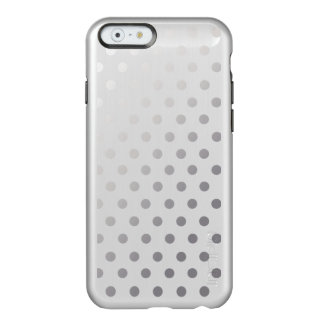 Modelo de lunares brillante de plata funda para iPhone 6 plus incipio feather shine