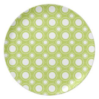 Modelo de lunares de moda de la verde lima platos para fiestas