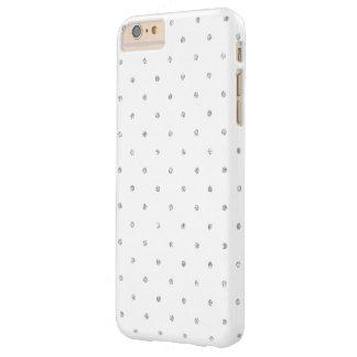 Modelo de lunares de plata blanco elegante del funda de iPhone 6 plus barely there