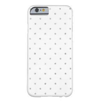 Modelo de lunares de plata blanco elegante del funda para iPhone 6 barely there