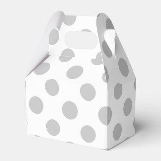 Modelo de lunares del blanco gris caja para regalos