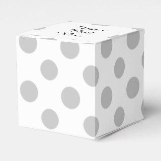 Modelo de lunares del blanco gris caja para regalos de fiestas