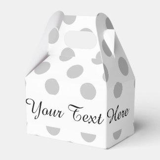 Modelo de lunares del blanco gris cajas para regalos de boda