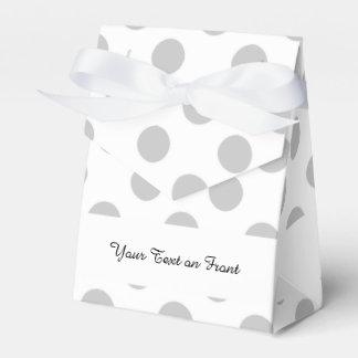 Modelo de lunares del blanco gris cajas para detalles de boda
