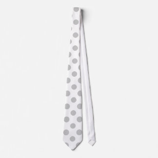 Modelo de lunares del blanco gris corbatas