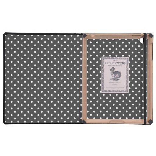 Modelo de lunares monocromático iPad protectores