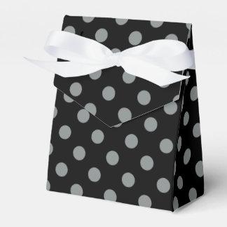 Modelo de lunares negro y gris cajas para regalos de boda