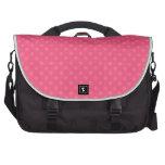 Modelo de lunares rosado bolsas para portatil