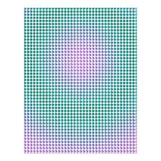 "Modelo de lunares rosado de la turquesa del trullo folleto 8.5"" x 11"""