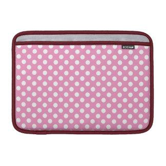 Modelo de lunares rosado lindo fundas para macbook air