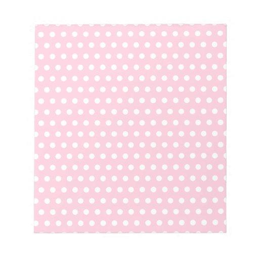 Modelo de lunares rosado y blanco blocs