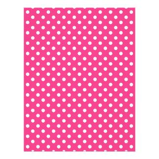 """Modelo de lunares rosado y blanco folleto 8.5"""" x 11"""""""