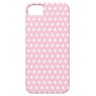 Modelo de lunares rosado y blanco iPhone 5 Case-Mate cárcasa