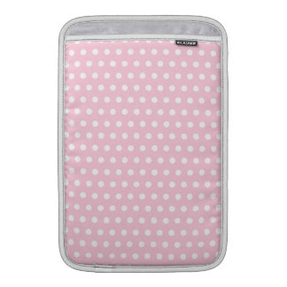 Modelo de lunares rosado y blanco funda para macbook air