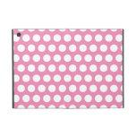 Modelo de lunares rosado y blanco iPad mini protector