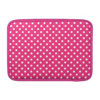 Modelo de lunares rosado y blanco funda macbook air