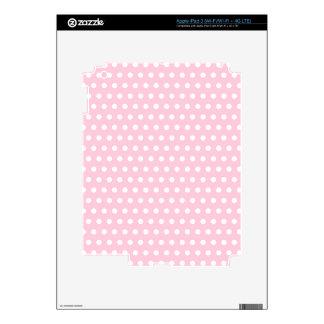 Modelo de lunares rosado y blanco iPad 3 pegatina skin