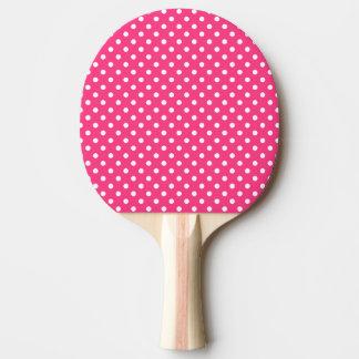 Modelo de lunares rosado y blanco pala de ping pong