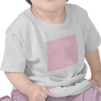 Modelo de lunares rosado y blanco camisetas