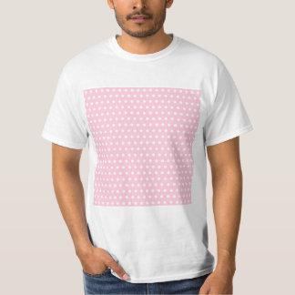 Modelo de lunares rosado y blanco polera