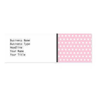 Modelo de lunares rosado y blanco plantilla de tarjeta de visita
