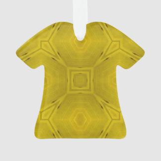 Modelo de madera abstracto amarillo