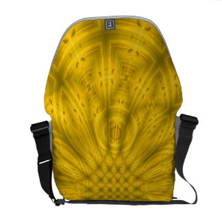 Modelo de madera abstracto amarillo bolsa de mensajeria