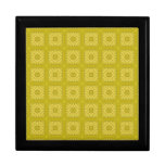 Modelo de madera abstracto amarillo caja de joyas