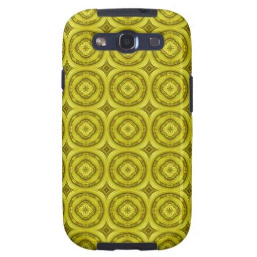 Modelo de madera abstracto amarillo samsung galaxy s3 protectores