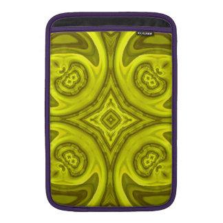 Modelo de madera abstracto amarillo funda para macbook air