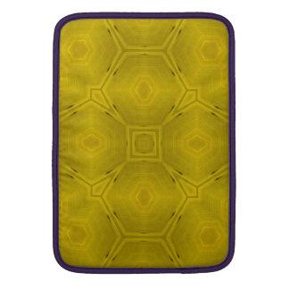 Modelo de madera abstracto amarillo funda  MacBook