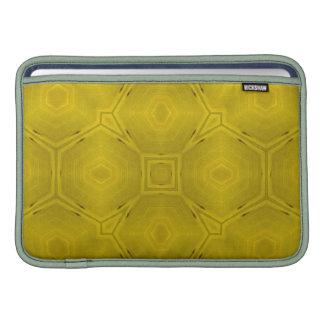Modelo de madera abstracto amarillo fundas macbook air