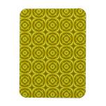 Modelo de madera abstracto amarillo imán de vinilo