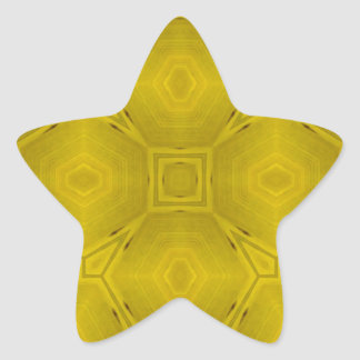 Modelo de madera abstracto amarillo pegatina en forma de estrella