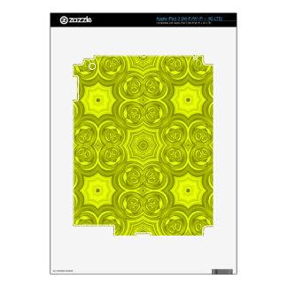 Modelo de madera abstracto amarillo pegatina skin para iPad 3