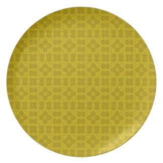 Modelo de madera abstracto amarillo platos
