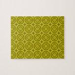 Modelo de madera abstracto amarillo puzzle