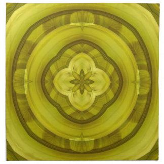 Modelo de madera abstracto amarillo servilleta de papel
