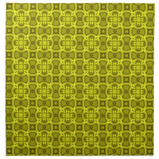 Modelo de madera abstracto amarillo servilletas de papel