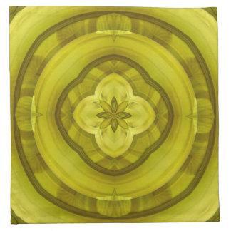 Modelo de madera abstracto amarillo servilletas