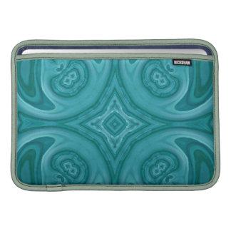Modelo de madera abstracto azul fundas MacBook