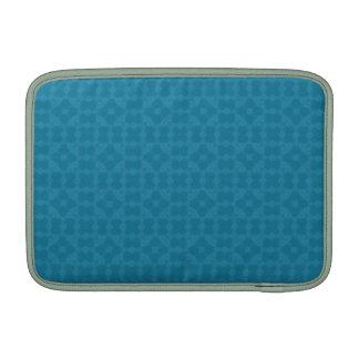 Modelo de madera abstracto azul funda macbook air