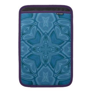 Modelo de madera abstracto azul funda para macbook air